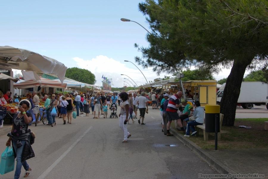 Рынок в Бибионе