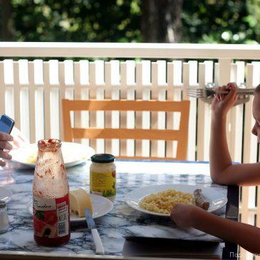 Еда на балконе в Бибионе