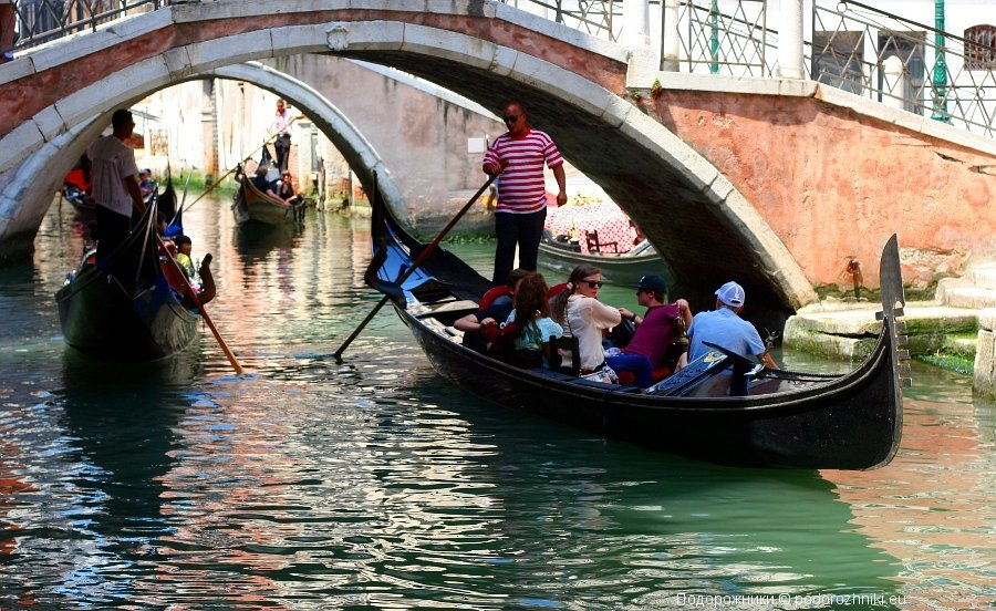 Венеция, гондолы