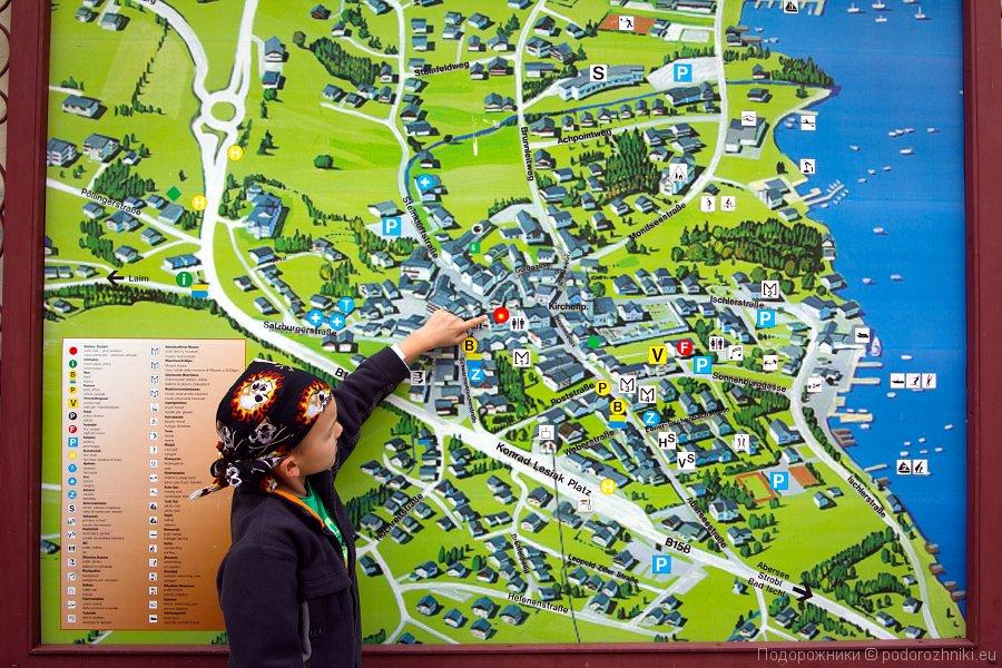 Карта Санкт Гильгена