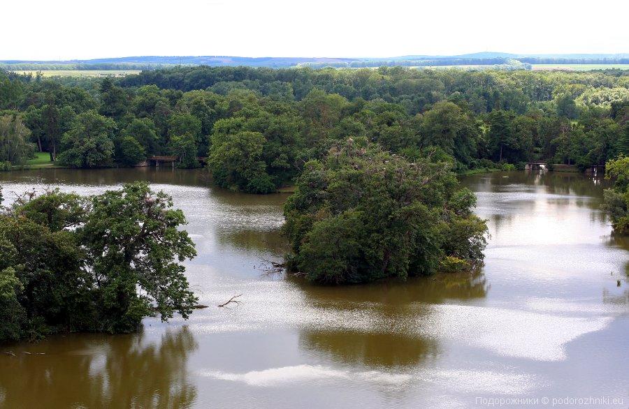 Река Дие, Леднице, вид с Минарета