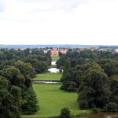 Замок Леднице - вид с Минарета