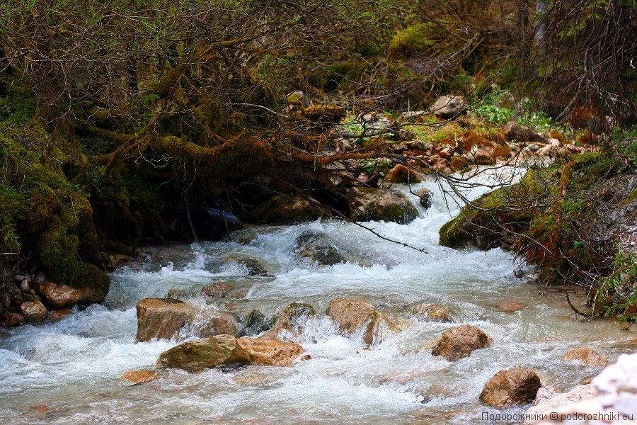 Горная речка в районе Гозау