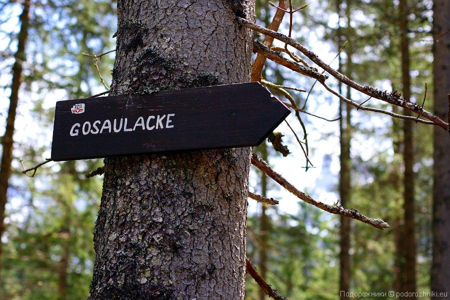 Указатель к среднему озеру Gosaulacke