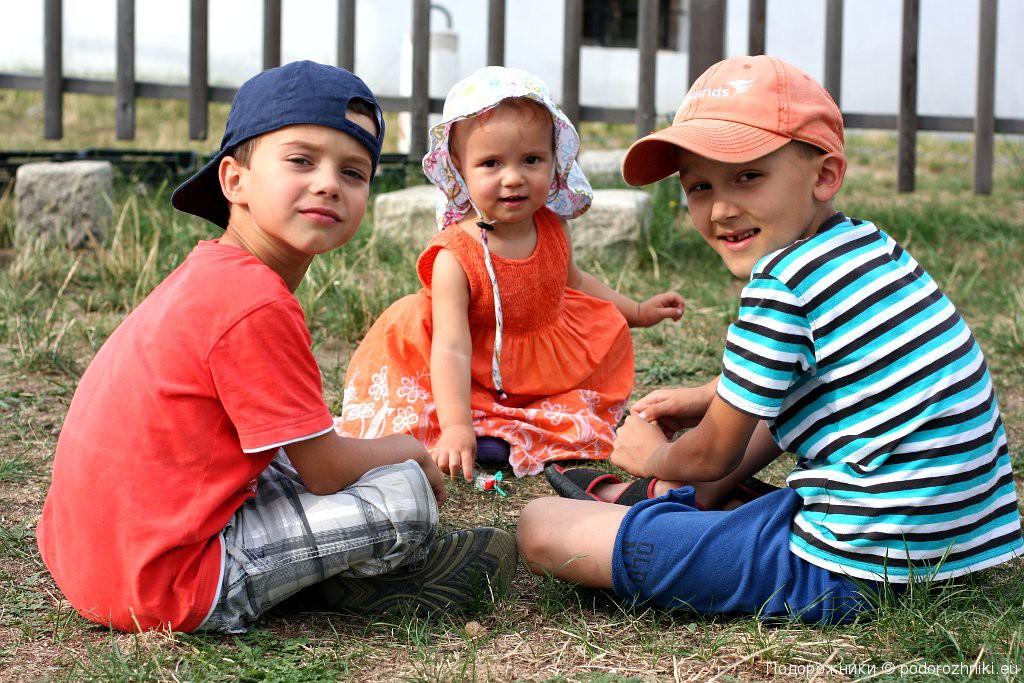 Дети у мельницы Рец