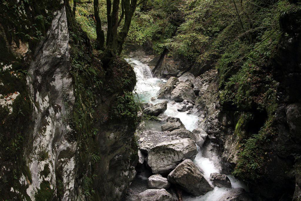 Водопады в заповеднике Толминска Корыта