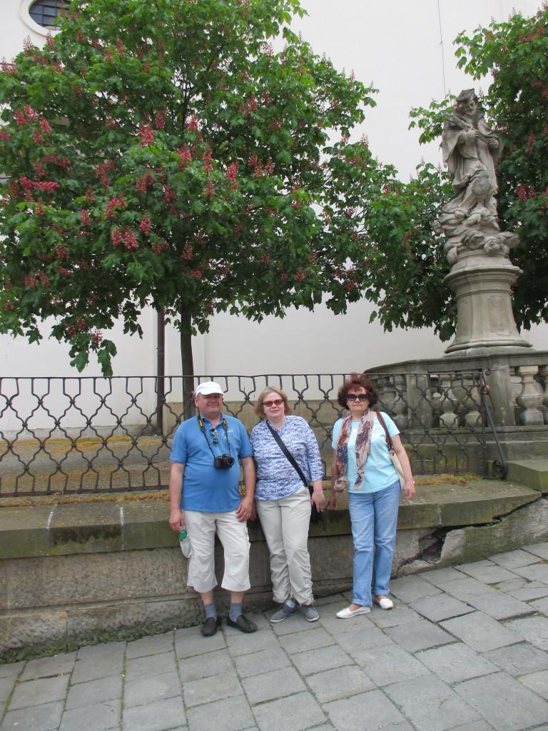 Наши туристы: Иван, Татьяна и Ирина в Брно