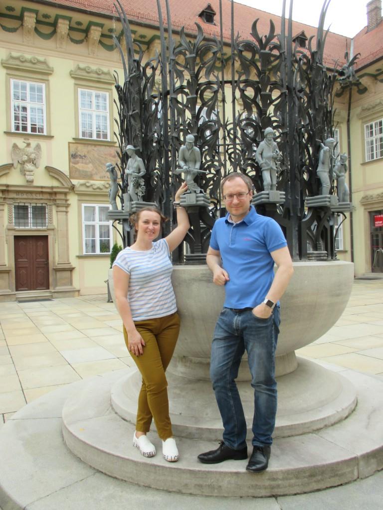 Наши туристы в Брно: Ирина и Роман из Москвы
