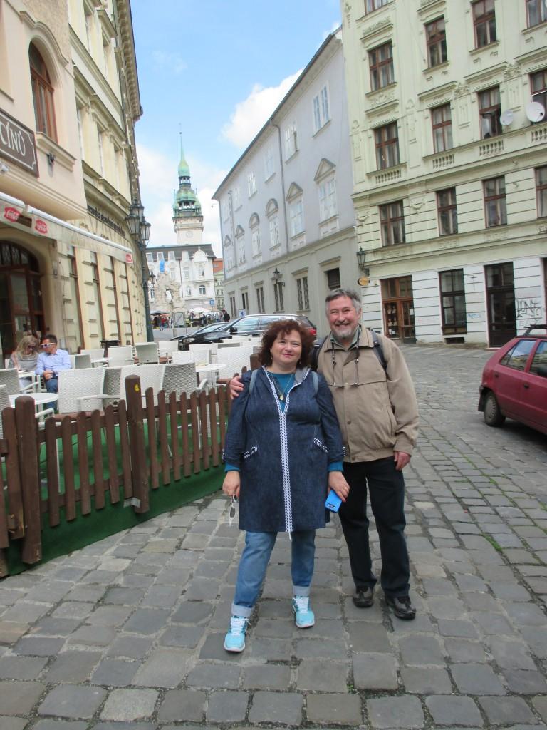 Наши туристы в Брно: Наталия и Борис