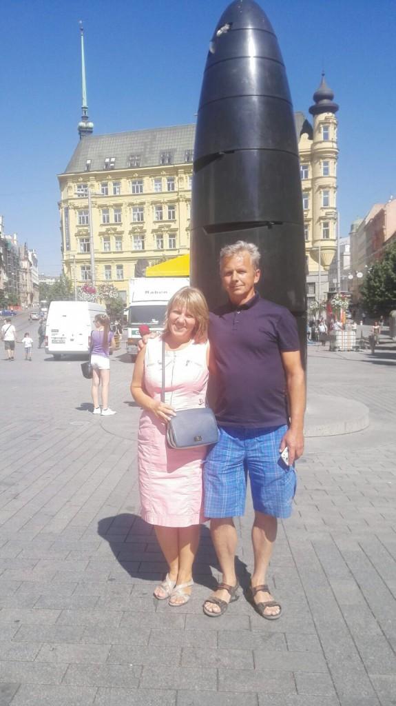 Наши туристы в Брно: Иван и Светлана из Санкт-Петербурга