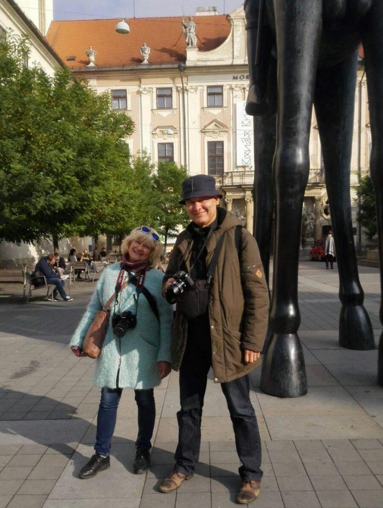 Наши туристы в Брно: Ольга с мужем