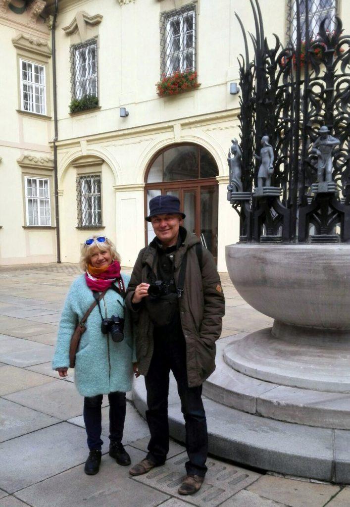 Наши туристы в Брно: Ольга и муж