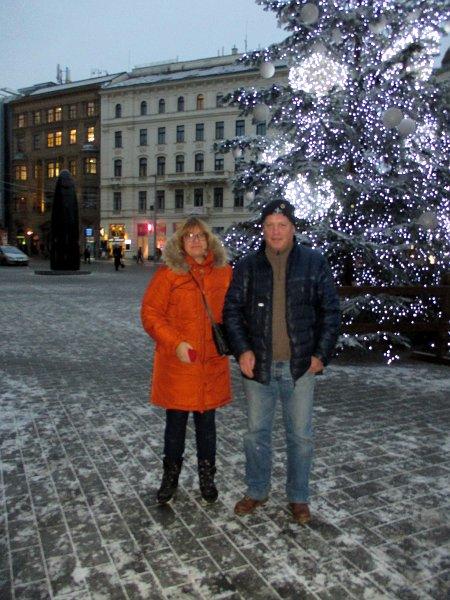 Наши туристы в Брно: Юлий и Виталий