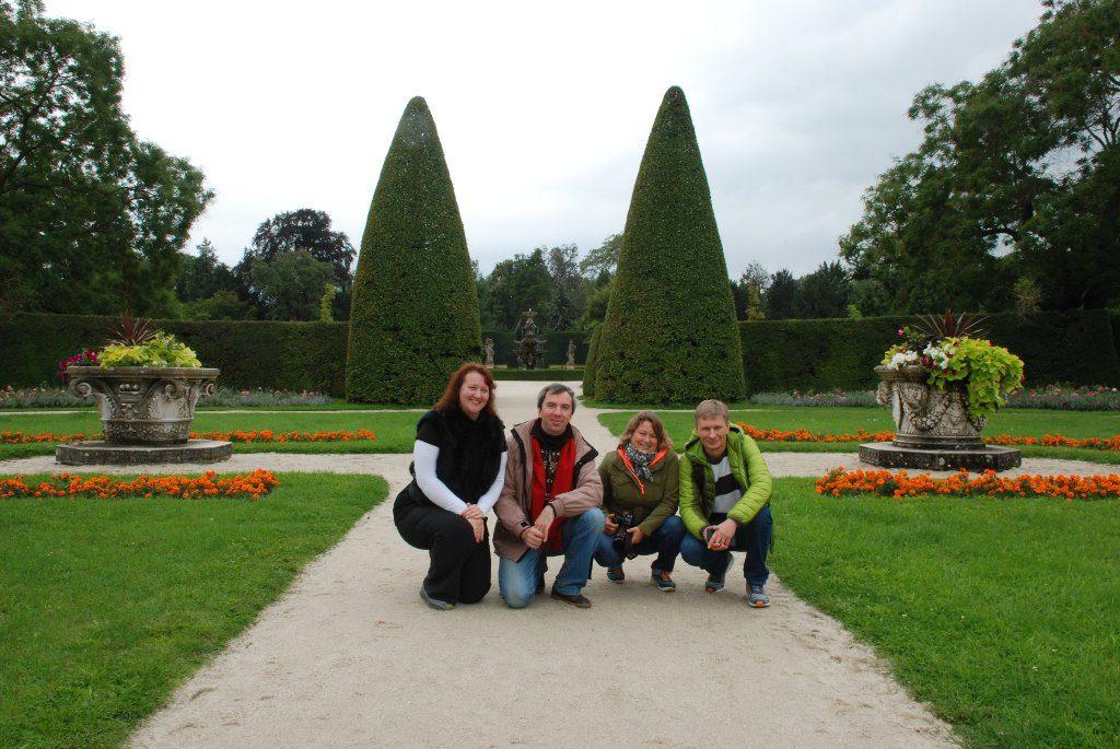 Наши туристы в Леднице-Валтице