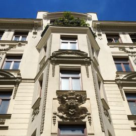 Дом с орлами и улица Orlí в Брно