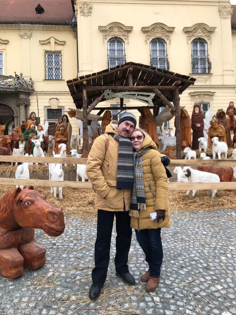 Наши туристы в Брно: Любовь и Михаил