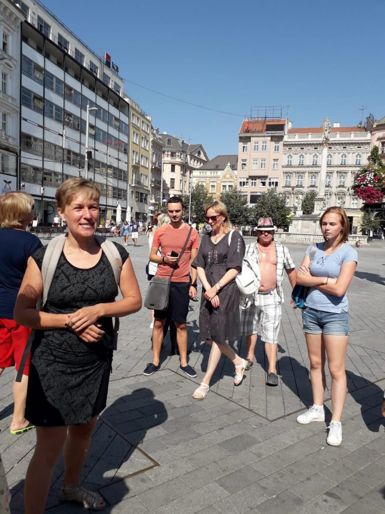 Наши туристы в Брно