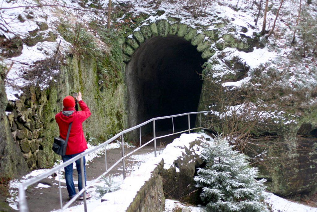 Правчицкие ворота зимой